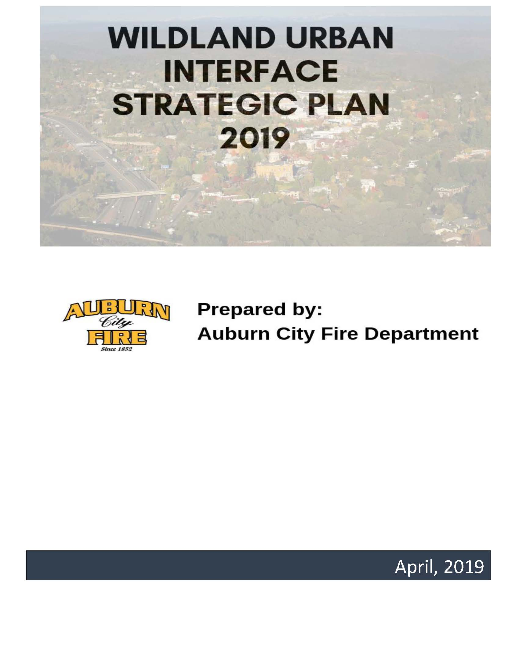 Image from Auburn City Fire Wildland Urban Interface Strategic Plan Opens in new window